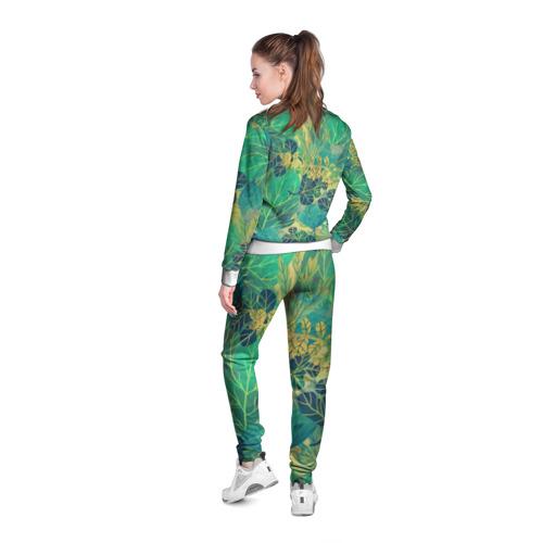 Женская олимпийка 3D  Фото 04, Узор из листьев