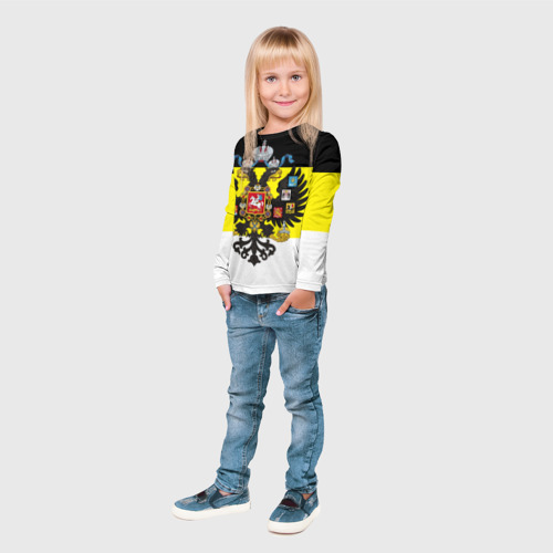 Детский лонгслив 3D Имперский Флаг Фото 01