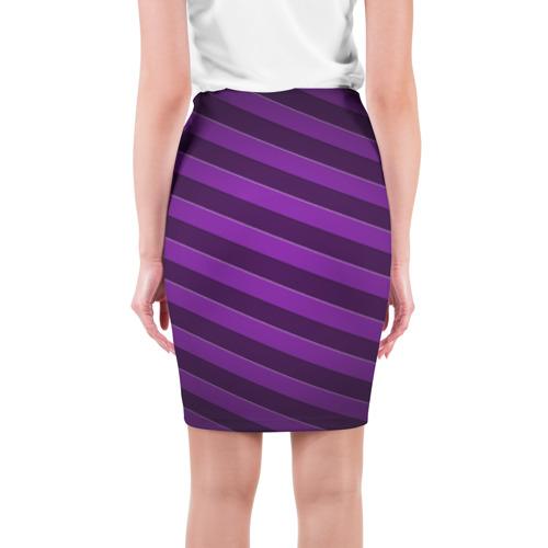 Юбка 3D  Фото 02, Фиолетовые полосы