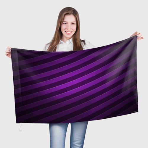 Флаг 3D  Фото 01, Фиолетовые полосы