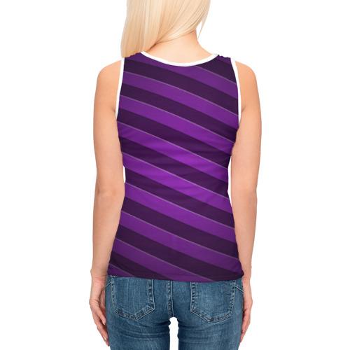 Женская майка 3D  Фото 04, Фиолетовые полосы