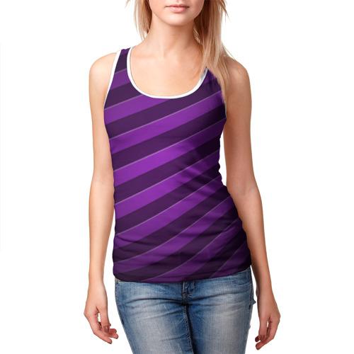 Женская майка 3D  Фото 03, Фиолетовые полосы