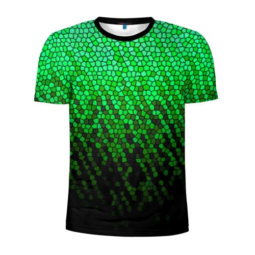 Мужская футболка 3D спортивная Стеклянная мозайка