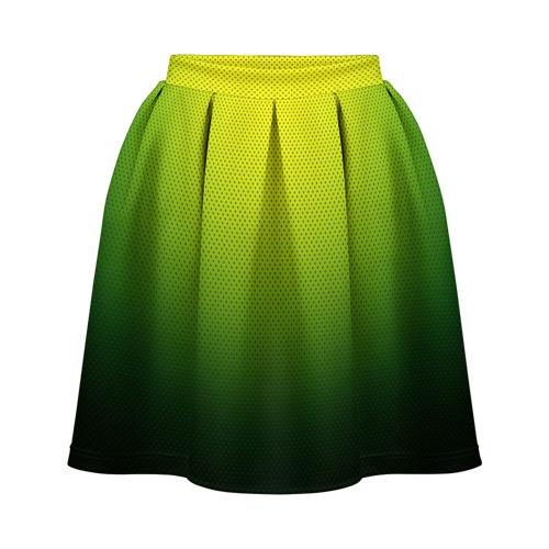 Юбка-солнце 3D Зелёная текстура