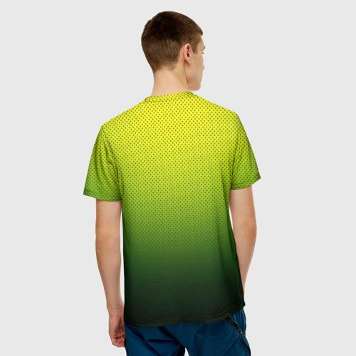 Мужская футболка 3D  Фото 02, Зелёная текстура