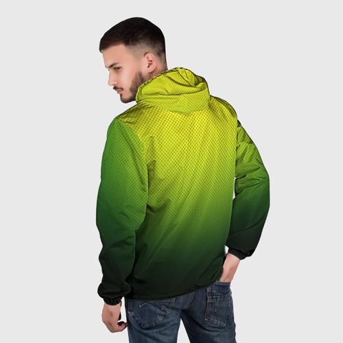 Мужская ветровка 3D  Фото 04, Зелёная текстура
