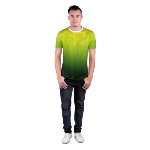 Мужская футболка 3D спортивная  Фото 04, Зелёная текстура
