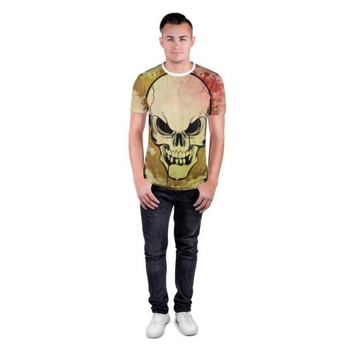 Мужская футболка 3D спортивная  Фото 04, Череп узор