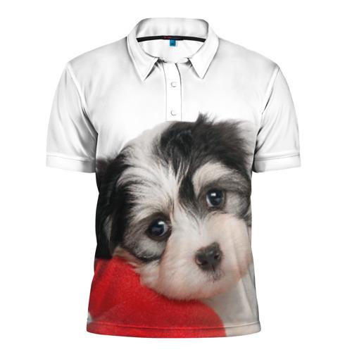 Мужская рубашка поло 3D  Фото 01, Щенок