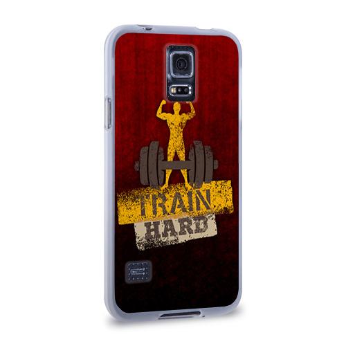 Чехол для Samsung Galaxy S5 силиконовый  Фото 02, Train hard