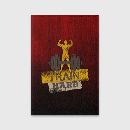 Обложка для паспорта матовая кожа  Фото 01, Train hard