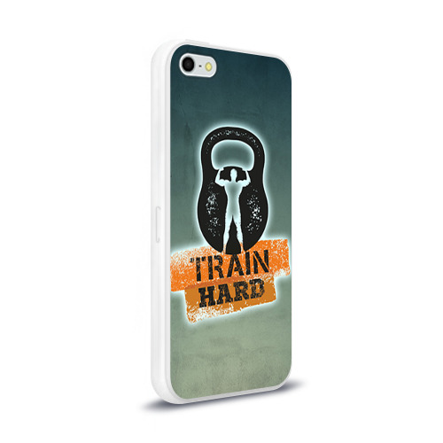 Чехол для Apple iPhone 5/5S силиконовый глянцевый  Фото 02, Train hard 2