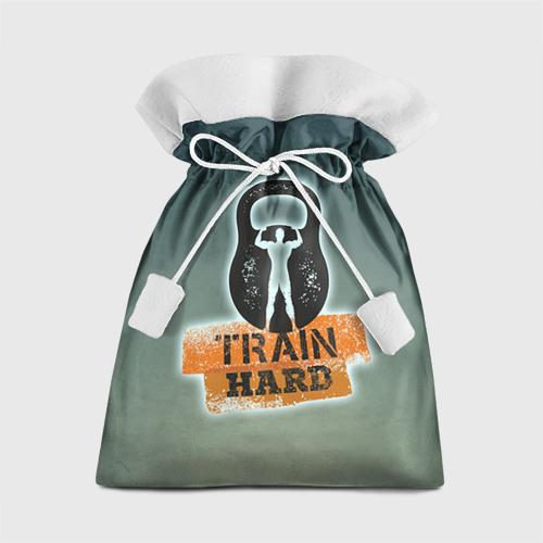 Подарочный 3D мешок Train hard 2