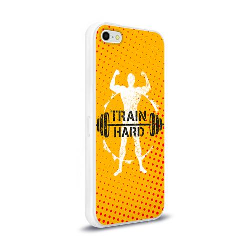 Чехол для Apple iPhone 5/5S силиконовый глянцевый  Фото 02, Train hard 3