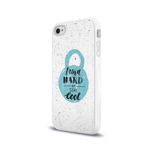 Чехол для Apple iPhone 4/4S силиконовый глянцевый  Фото 03, Train hard 4
