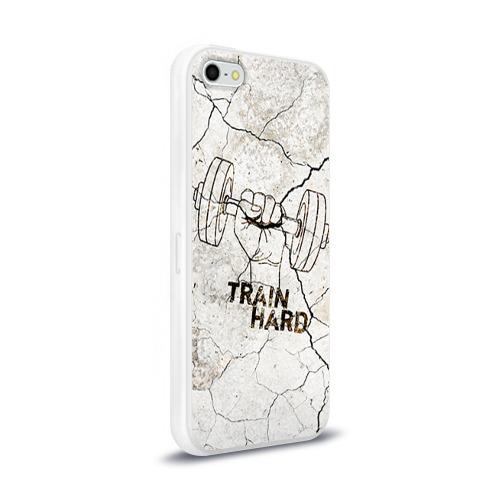 Чехол для Apple iPhone 5/5S силиконовый глянцевый  Фото 02, Train hard 5