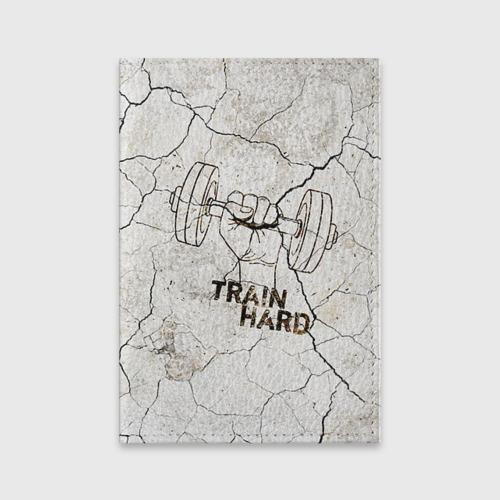 Обложка для паспорта матовая кожа  Фото 01, Train hard 5