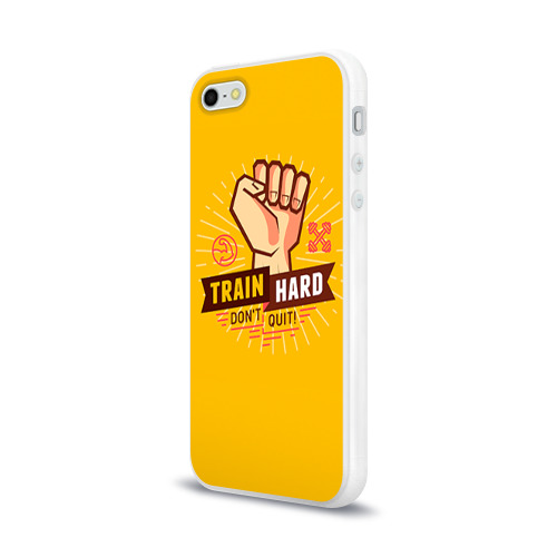Чехол для Apple iPhone 5/5S силиконовый глянцевый  Фото 03, Train hard 6