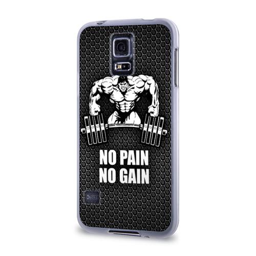 Чехол для Samsung Galaxy S5 силиконовый  Фото 03, No pain no gain 2