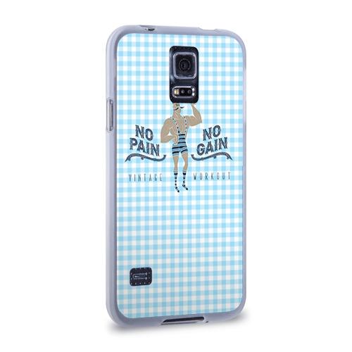 Чехол для Samsung Galaxy S5 силиконовый  Фото 02, No pain no gain 5