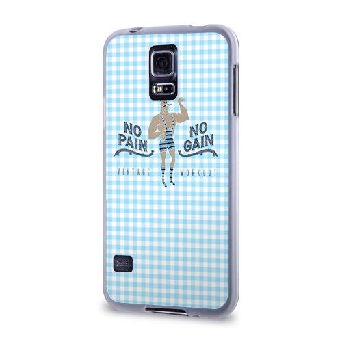 Чехол для Samsung Galaxy S5 силиконовый  Фото 03, No pain no gain 5