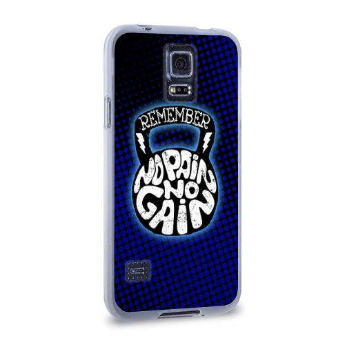 Чехол для Samsung Galaxy S5 силиконовый  Фото 02, No pain no gain 6
