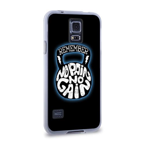 Чехол для Samsung Galaxy S5 силиконовый  Фото 02, No pain no gain 7