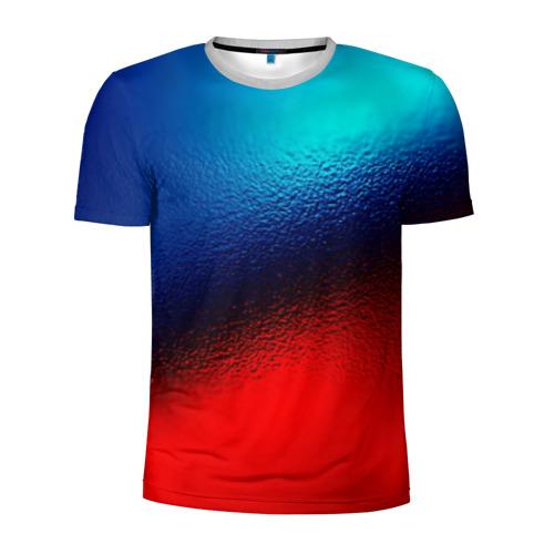 Мужская футболка 3D спортивная Цветовой переход красный