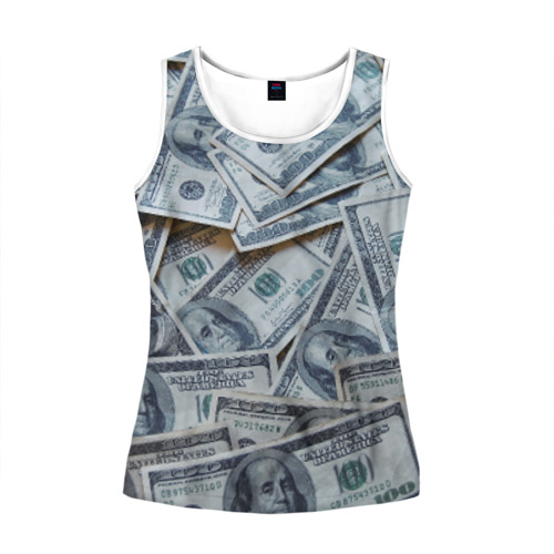 Женская майка 3D  Фото 01, Money