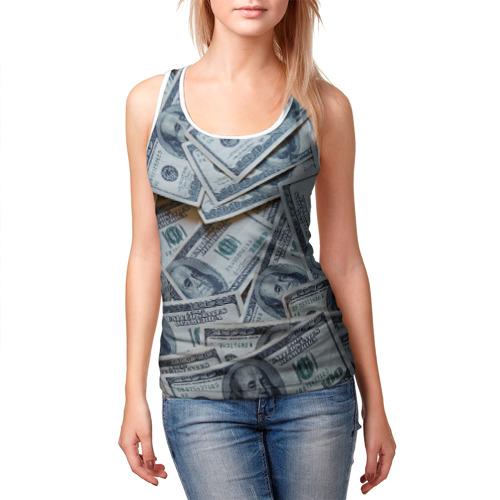 Женская майка 3D  Фото 03, Money