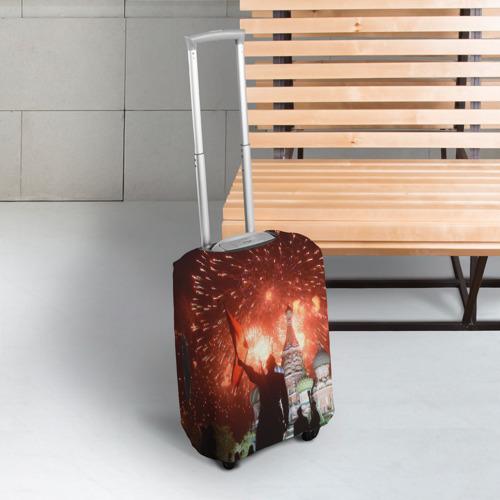 Чехол для чемодана 3D  Фото 03, Салют на Красной площади