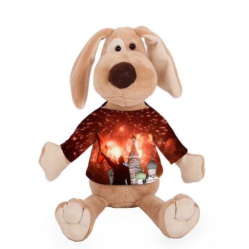 Собачка в футболке  Фото 01, Салют на Красной площади