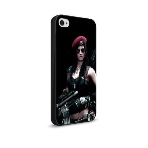 Чехол для Apple iPhone 4/4S soft-touch Девушка воин Фото 01
