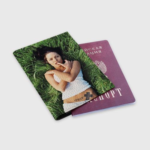 Обложка для паспорта матовая кожа  Фото 03, Джоли Анджелина