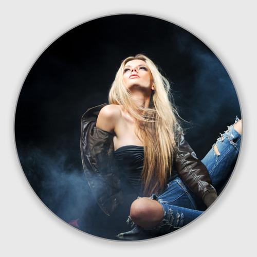 Коврик круглый  Фото 01, Девушка модель