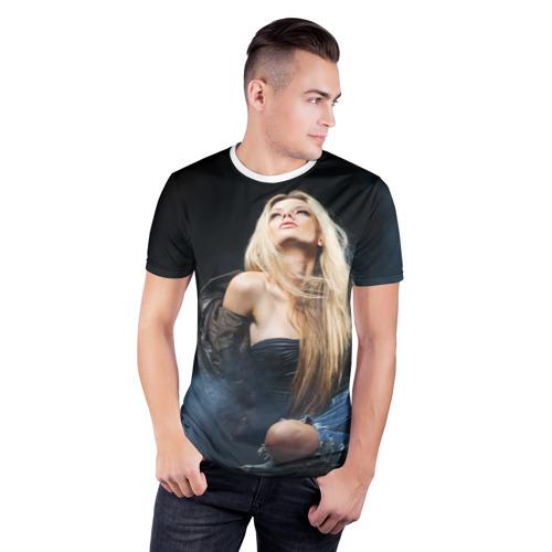 Мужская футболка 3D спортивная  Фото 03, Девушка модель