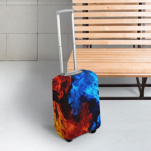 Чехол для чемодана 3D Битва огней Фото 01