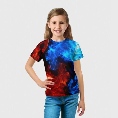 Детская футболка 3D Битва огней Фото 01