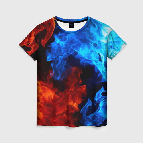 Женская футболка 3D Битва огней Фото 01