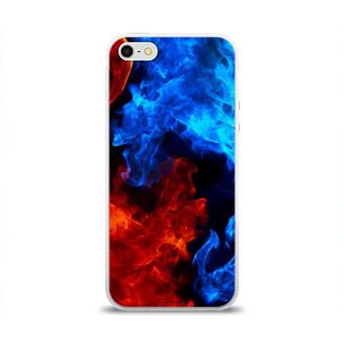 Чехол для Apple iPhone 5/5S силиконовый глянцевый Битва огней Фото 01