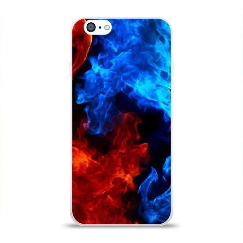 Чехол для Apple iPhone 6 силиконовый глянцевый Битва огней Фото 01