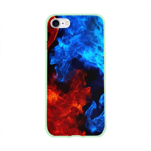 Чехол для Apple iPhone 8 силиконовый глянцевый Битва огней Фото 01