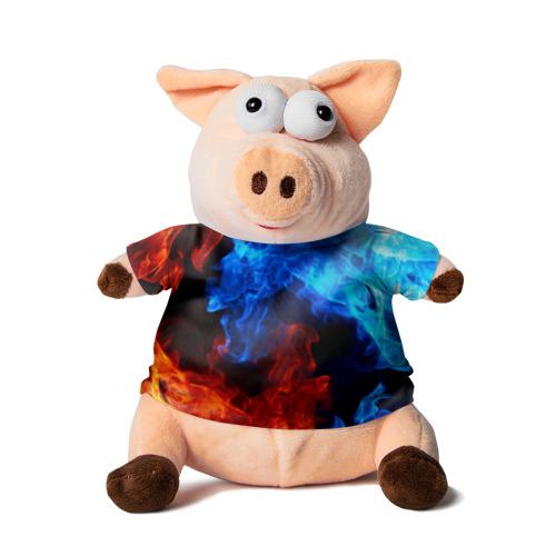 Свинка в футболке 3D Битва огней
