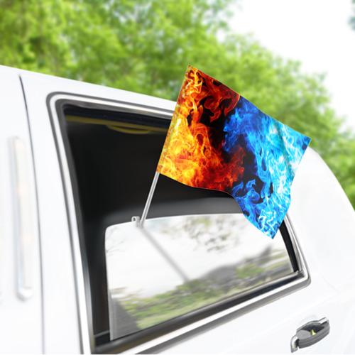 Флаг для автомобиля Битва огней Фото 01