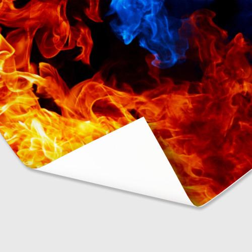 Бумага для упаковки 3D Битва огней Фото 01