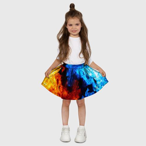 Детская юбка-солнце 3D Битва огней Фото 01