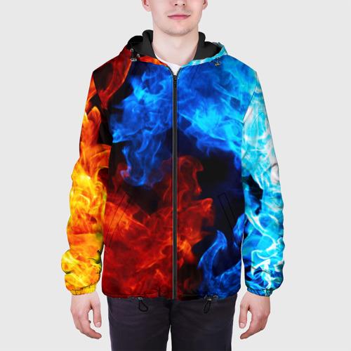 Мужская куртка 3D Битва огней Фото 01