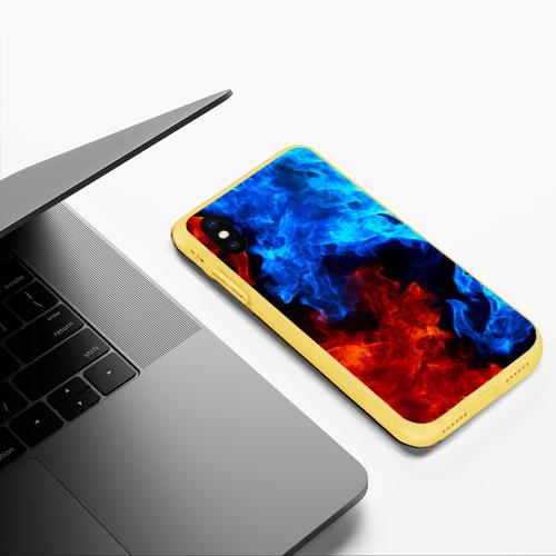 Чехол для iPhone XS Max матовый Битва огней Фото 01