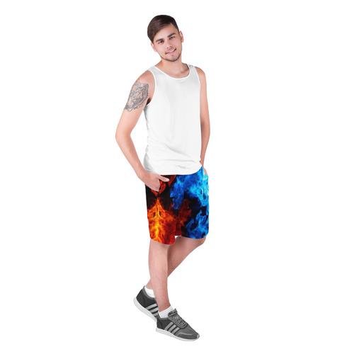 Мужские шорты 3D Битва огней Фото 01