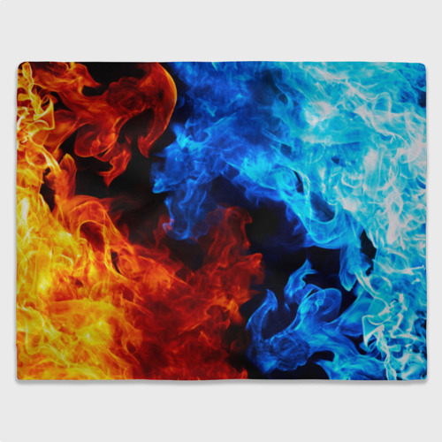 Плед 3D Битва огней Фото 01
